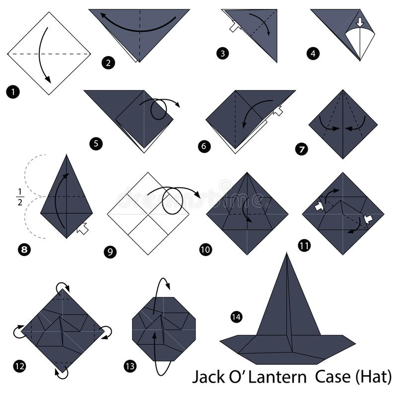 Easy Origami Instructions – Hat | Origami easy, Paper hat, Origami ... | 800x800