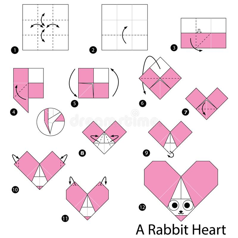 How to Make an Origami Heart | Origami heart instructions, Paper ... | 800x800