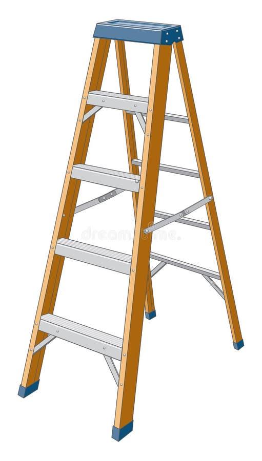 Step Ladder royalty free illustration