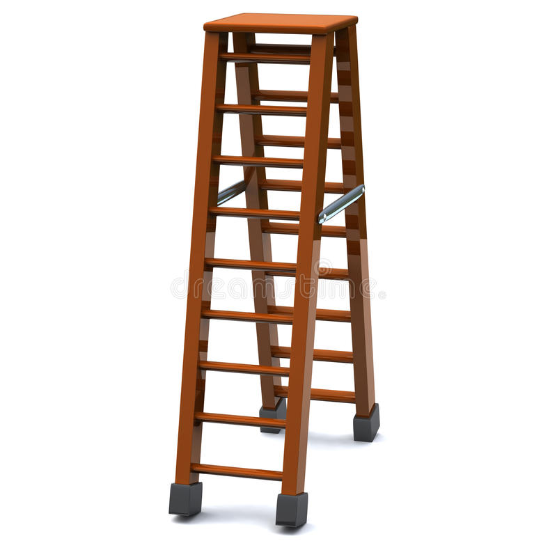 Download Step ladder 3d stock illustration. Illustration of high - 21947803