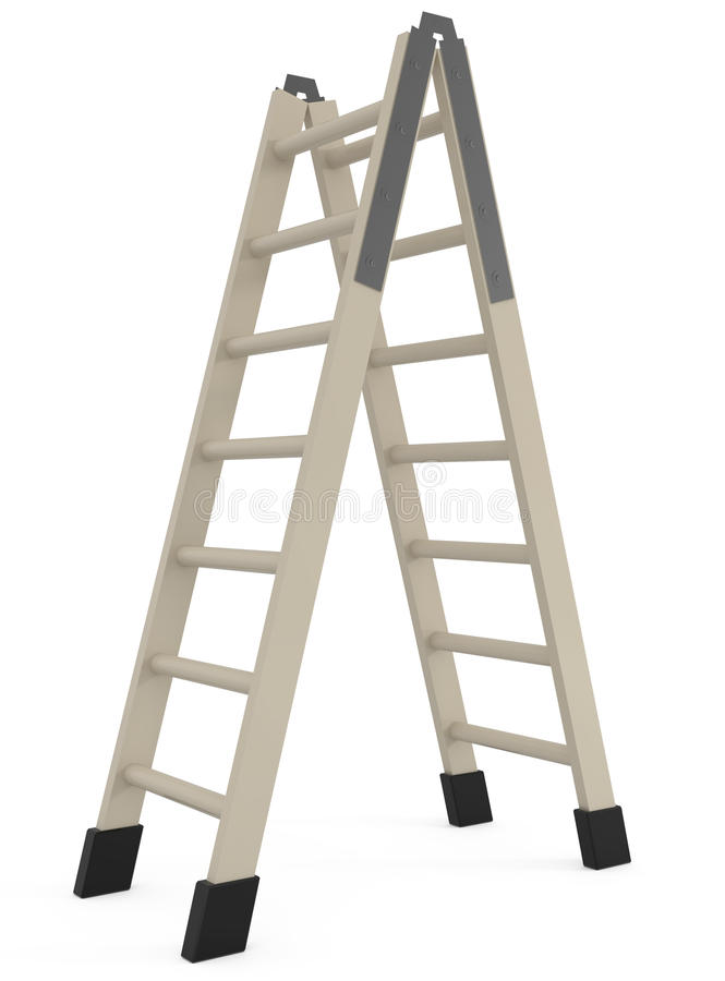 Download Step Ladder Isolated On White Stock Illustration - Image: 15540966