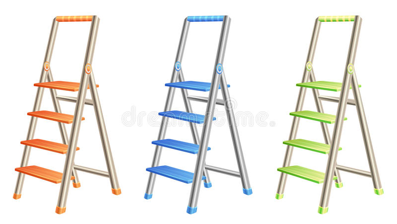 Download Step ladders stock vector. Illustration of step, device - 16223536