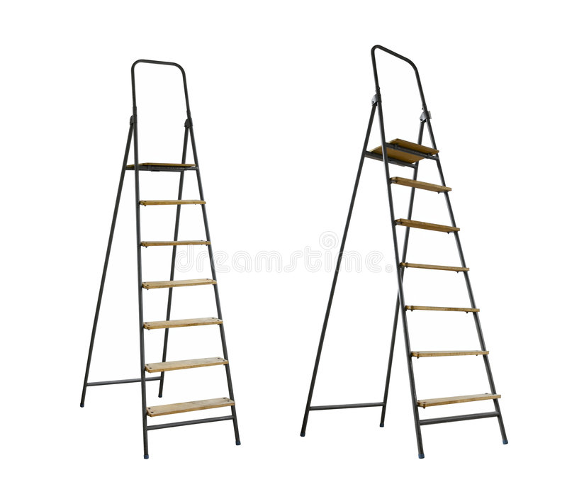 Step-ladders immagine stock