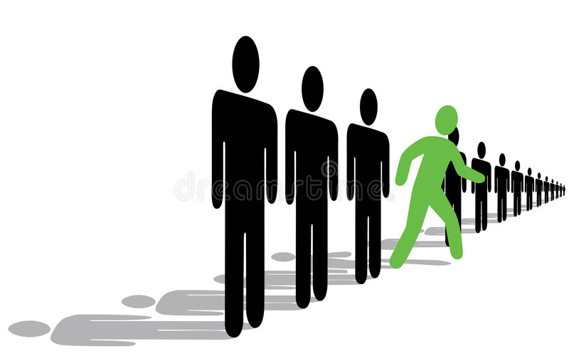 Step Out of Line vector illustration