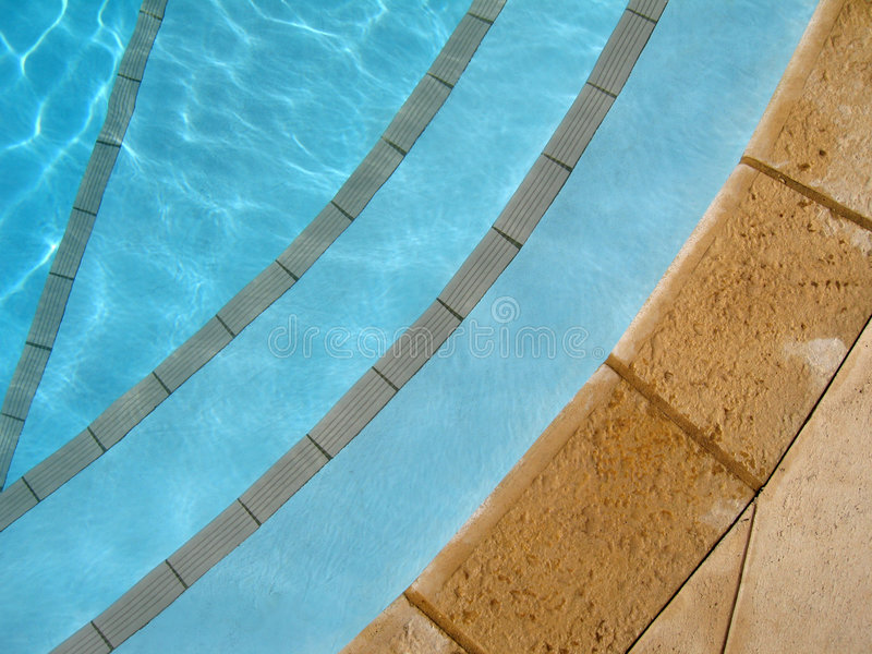 Step Into Pool royalty free stock photos