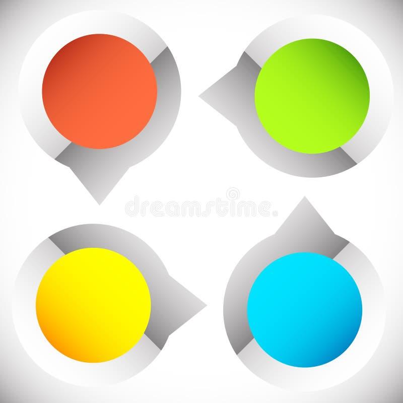 4-step presentación circular, elemento del infographics Progr cíclico ilustración del vector