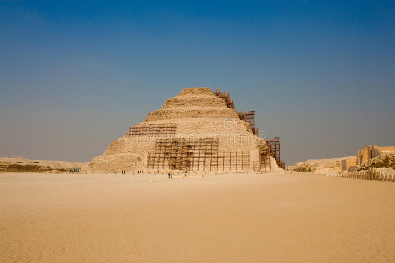 The Step Pyramid Of Djoser. In Saqqara near Cairo, Egypt stock images
