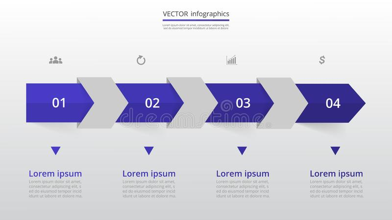 Step by step infographic. stock illustration