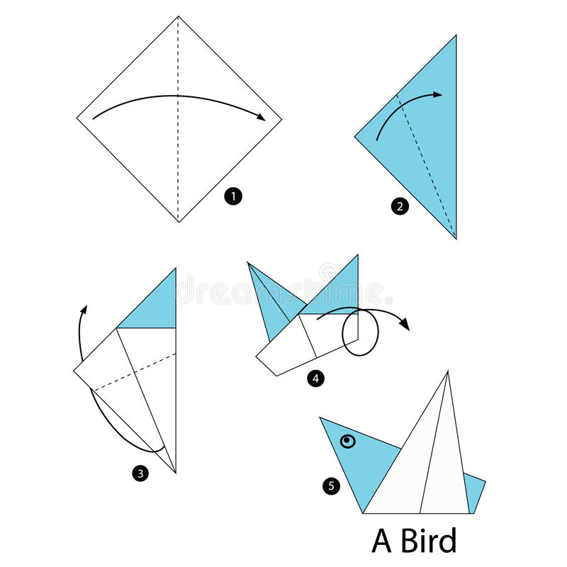 Step by step instructions how to make origami bird stock for How to make origami goose