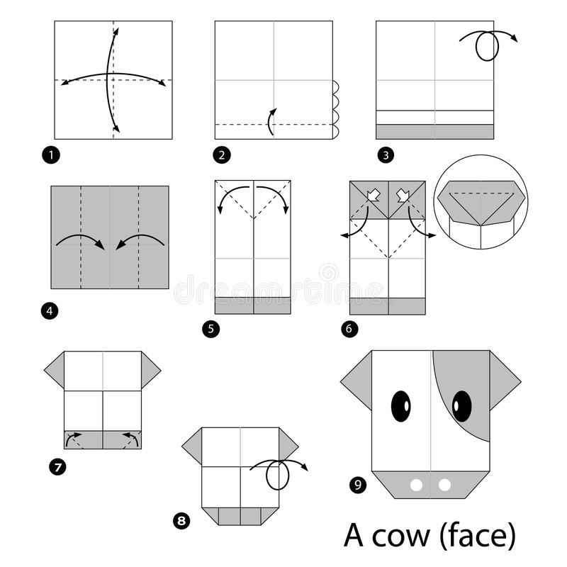 How To Make A Origami Cow Face | Origami Cow Face Easy | Popular ... | 800x800
