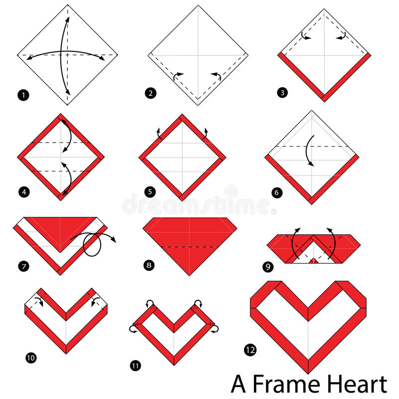 How to Make Origami Heart Love Notes - Step by Step Folding ... | 800x800