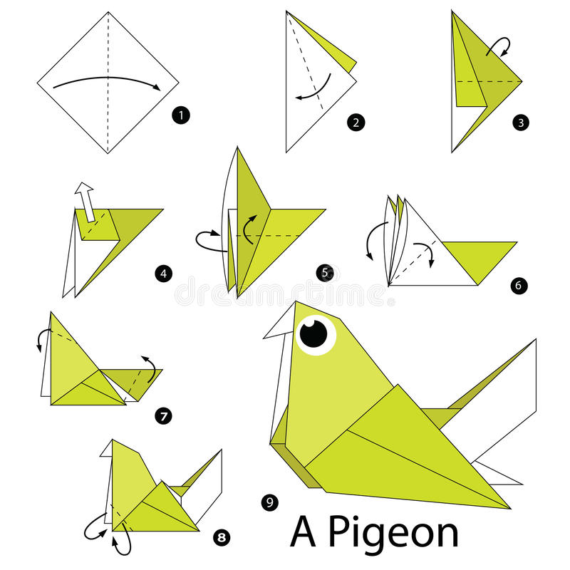 Pigeon Origami Diagram House Wiring Diagram Symbols