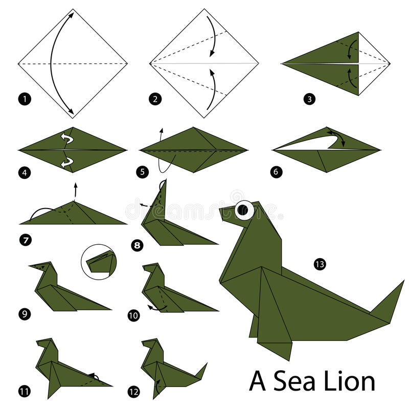 Origami tiger instruction | Origami animals, Cute origami, Origami ... | 800x800