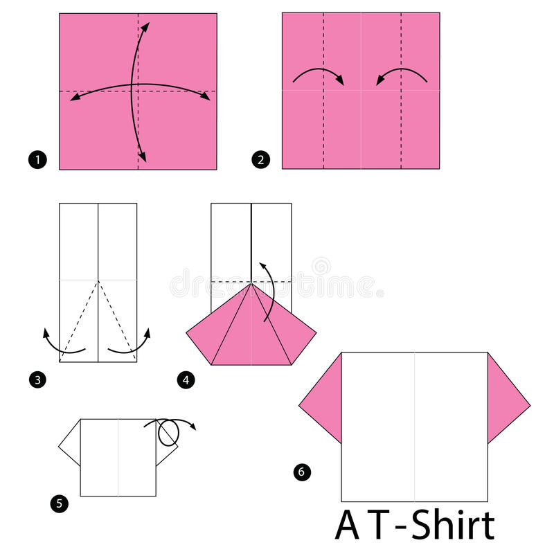 step by step instructions how to make origami a tshirt