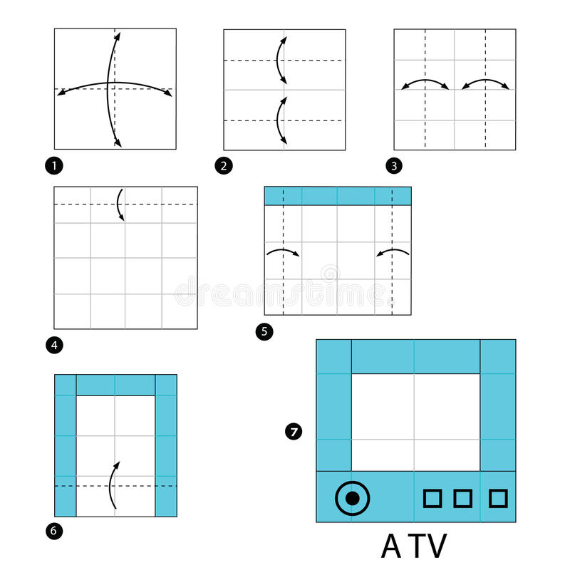 https://thumbs.dreamstime.com/b/step-step-instructions-how-to-make-origami-tv-toy-cartoon-cute-paper-steps-69648068.jpg