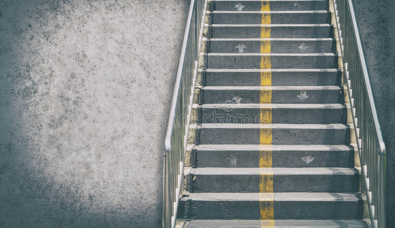 Step up the staircase for business concept. With copy space stock image