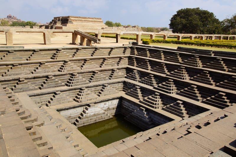 Step well. Hampi, India royalty free stock photos