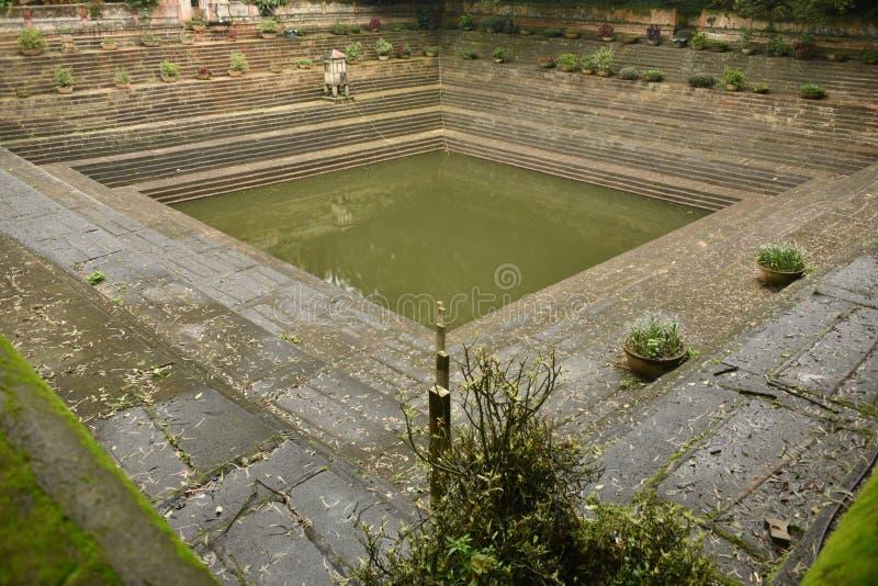 Step wells view at Nandi Hills , Karnataka. India stock photos