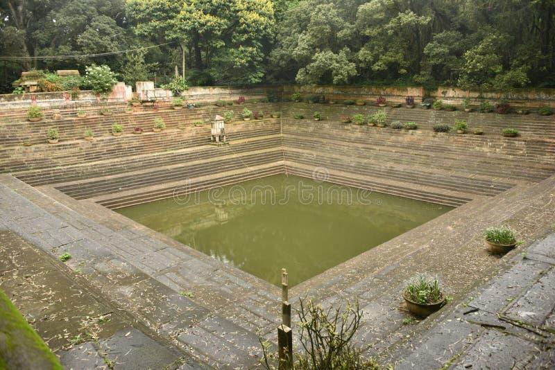 Step wells view at Nandi Hills , Karnataka. India stock images