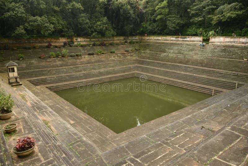 Step wells view at Nandi Hills , Karnataka. India royalty free stock images