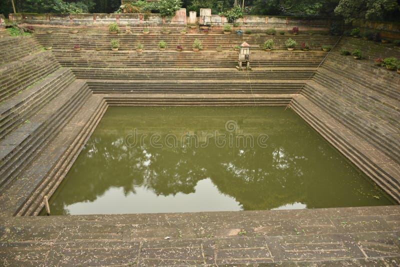 Step wells view at Nandi Hills , Karnataka. India royalty free stock photography
