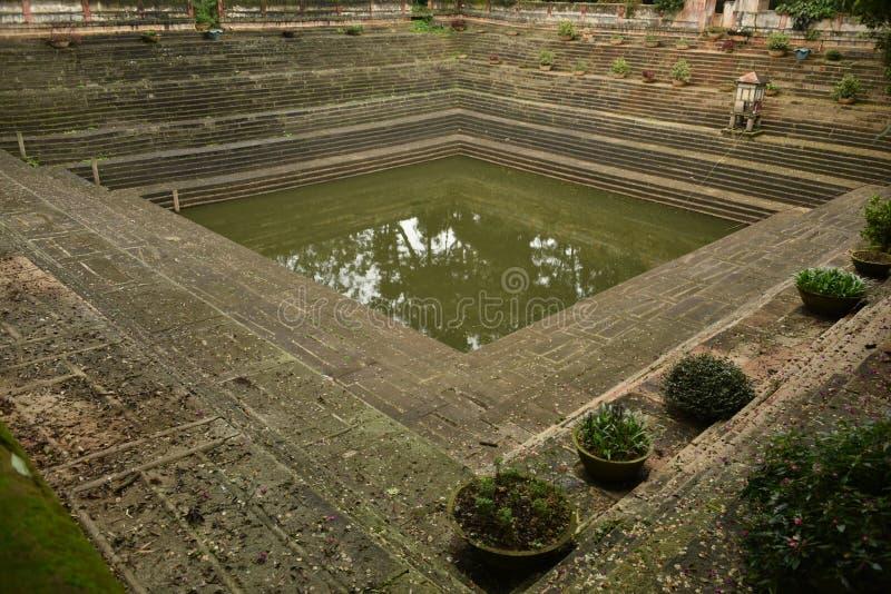 Step wells view at Nandi Hills , Karnataka. India royalty free stock image