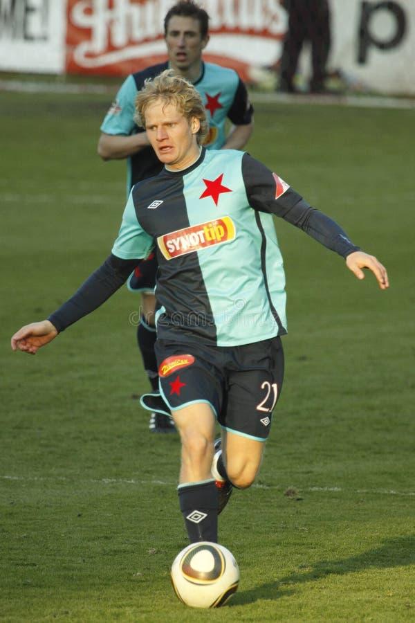 Stepan Kores de Slavia Praga imagem de stock