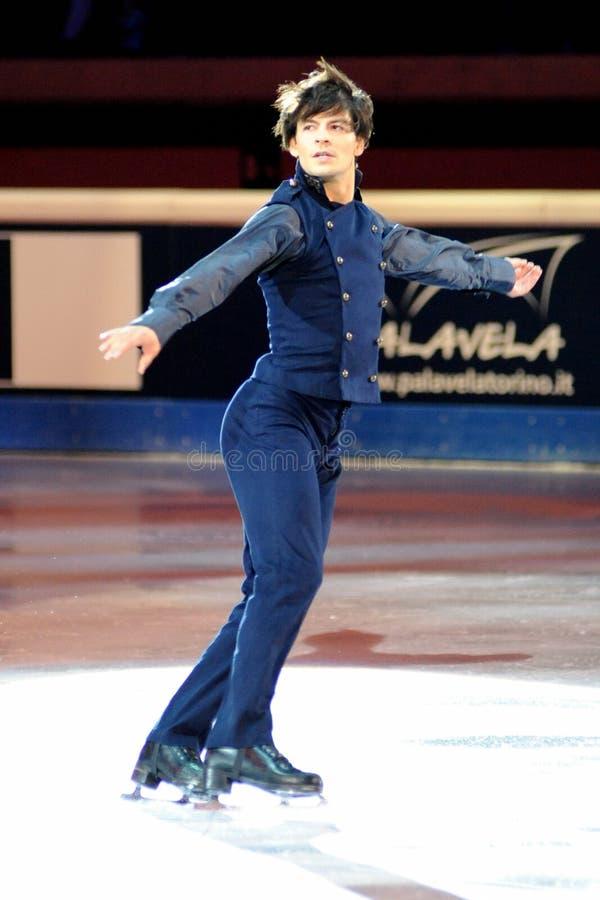 Stephane Lambiel at 2011 Golden Skate Award royalty free stock photography