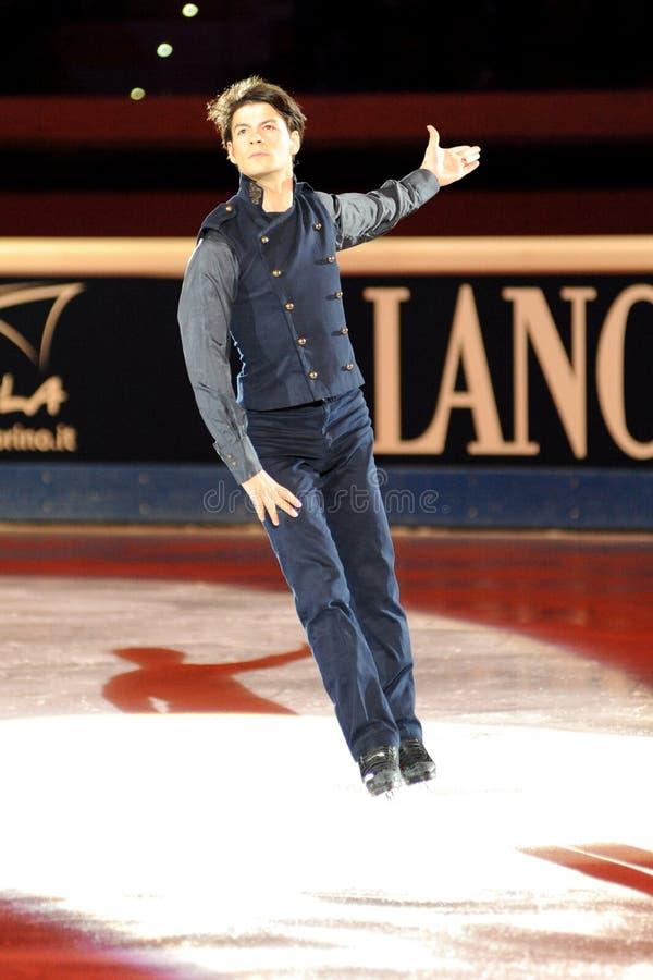 Stephane Lambiel bei goldenem Preis des Rochen-2011 lizenzfreie stockfotos