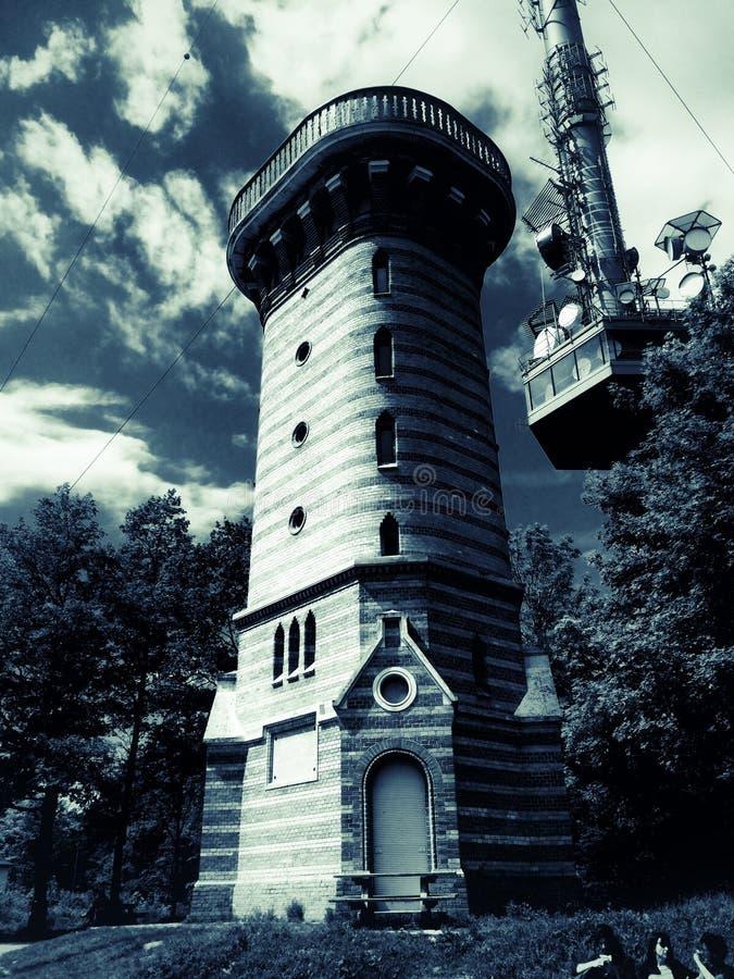 Stephaniewarte punktu obserwacyjnego wierza na Wiedeńskim Kahlenberg zdjęcie royalty free