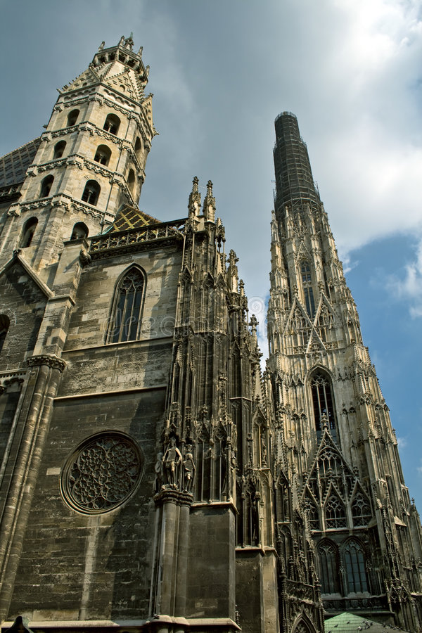 Stephansdom cathedral in Vienna royalty free stock images