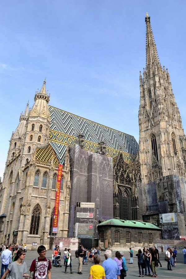 Stephansdom em Wienna imagens de stock