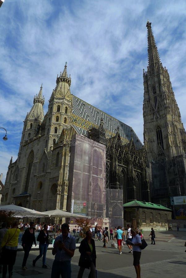 Stephansplatz, вена, Австрия стоковые изображения
