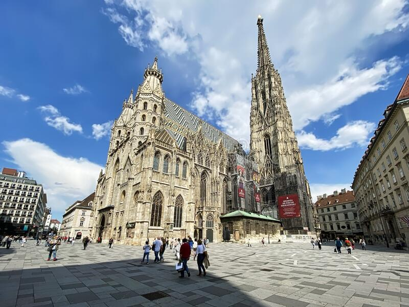 Stephansplatz with St. Stephens Cathedral royalty free stock images