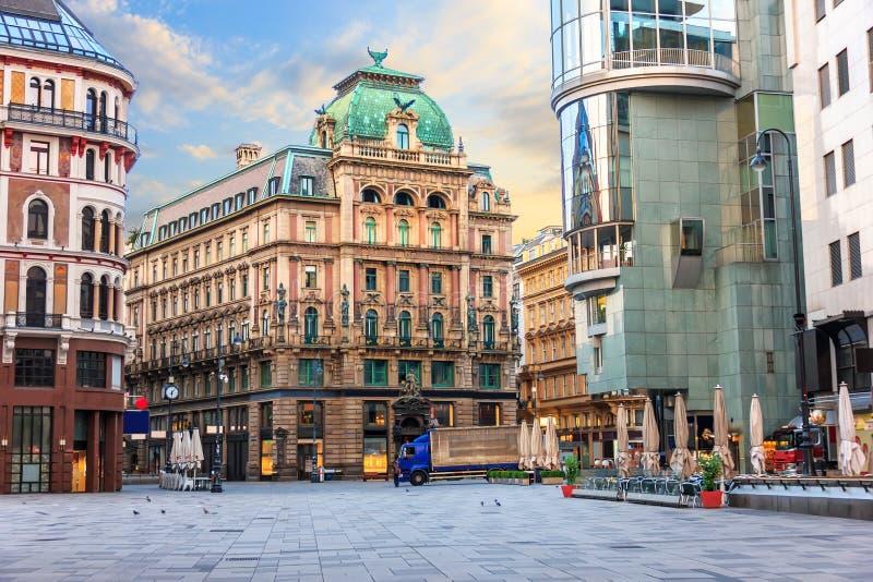 Stephansplatz, une place célèbre à Vienne, Autriche, aucune personnes image stock