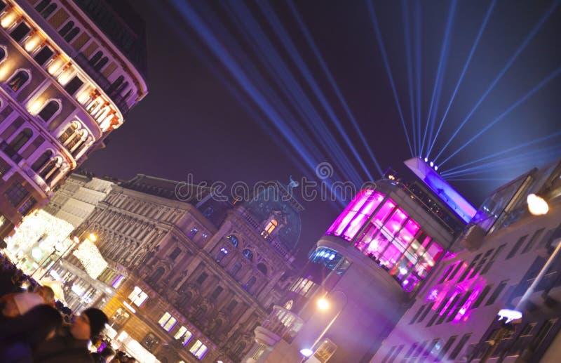 Stephansplatz av Wien på nytt års helgdagsafton royaltyfri foto