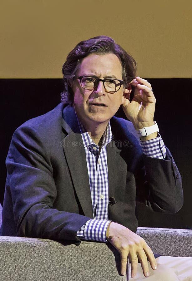 Stephen Colbert au festival 2015 de film de Montclair photos stock