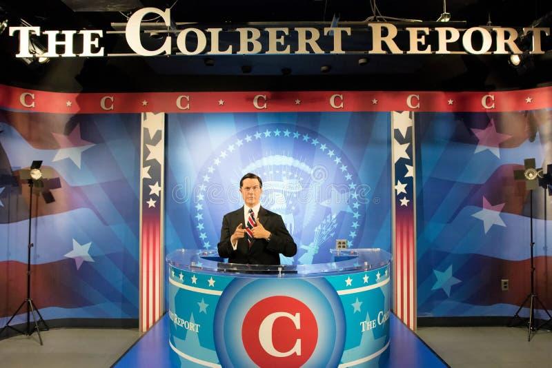 Stephen Colbert Wax Figure photos libres de droits