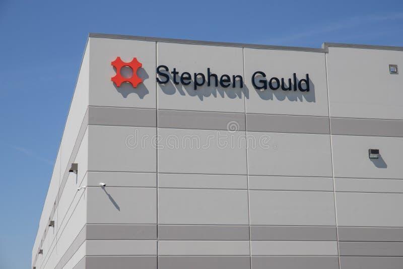 Stephen Gould-douaneproduct en verpakkend oplossingencentrum I stock afbeelding