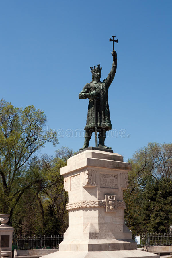 Stephen the Great Monument royalty free stock image