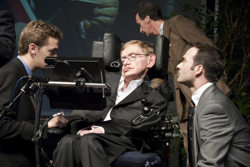 Stephen Hawking. Professor Stephen Hawking conference in Italy