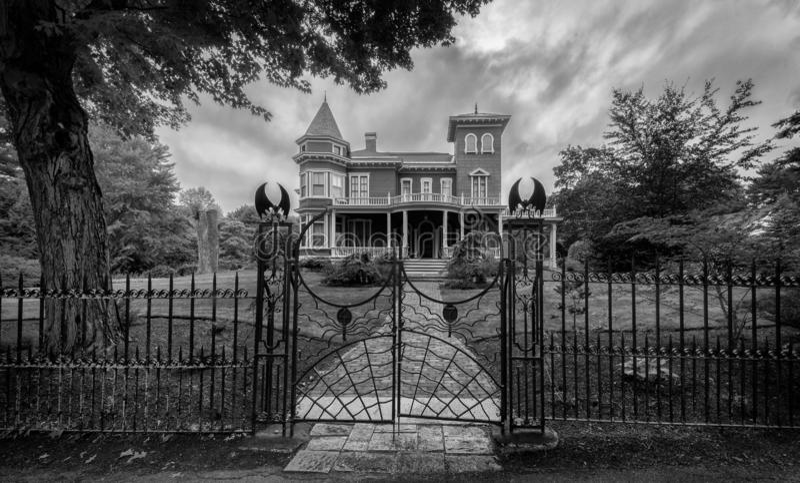 Stephen King ` s dom w Bangor, Maine fotografia royalty free
