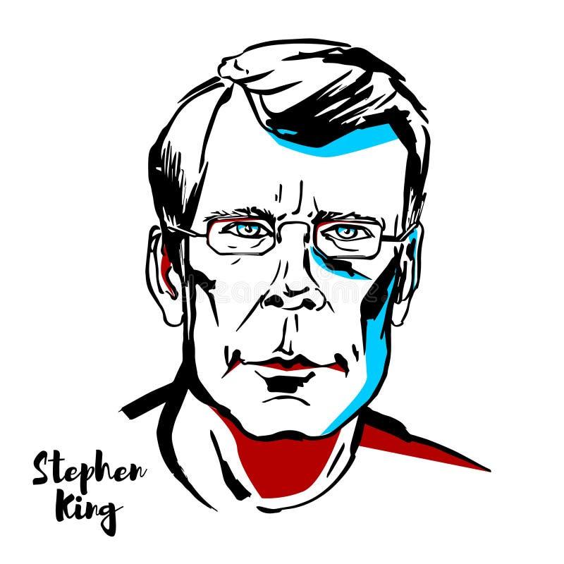 Stephen King Vetora Portrait ilustração do vetor