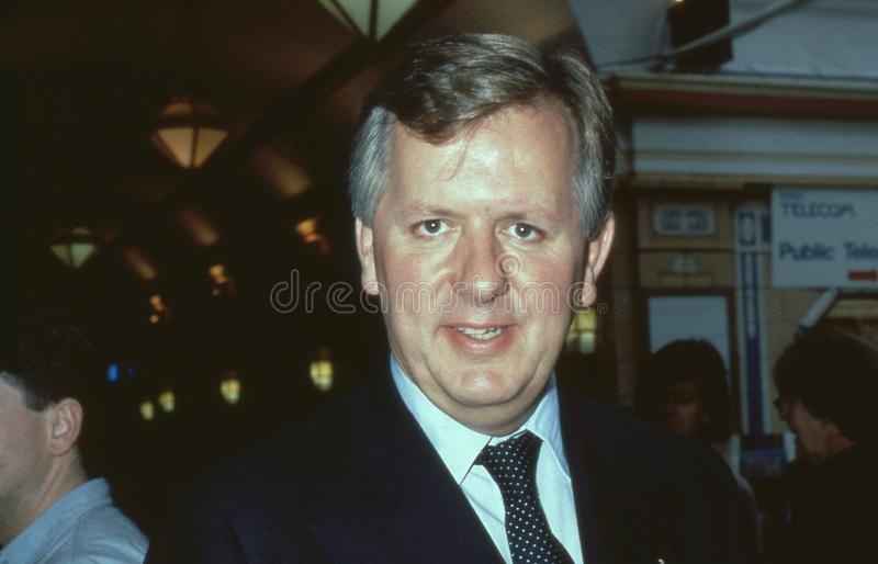 Stephen Norris. Conservative party Member of Parliament for Epping Forest, attends the party conference in Blackpool, England on October 10, 1989 stock photos