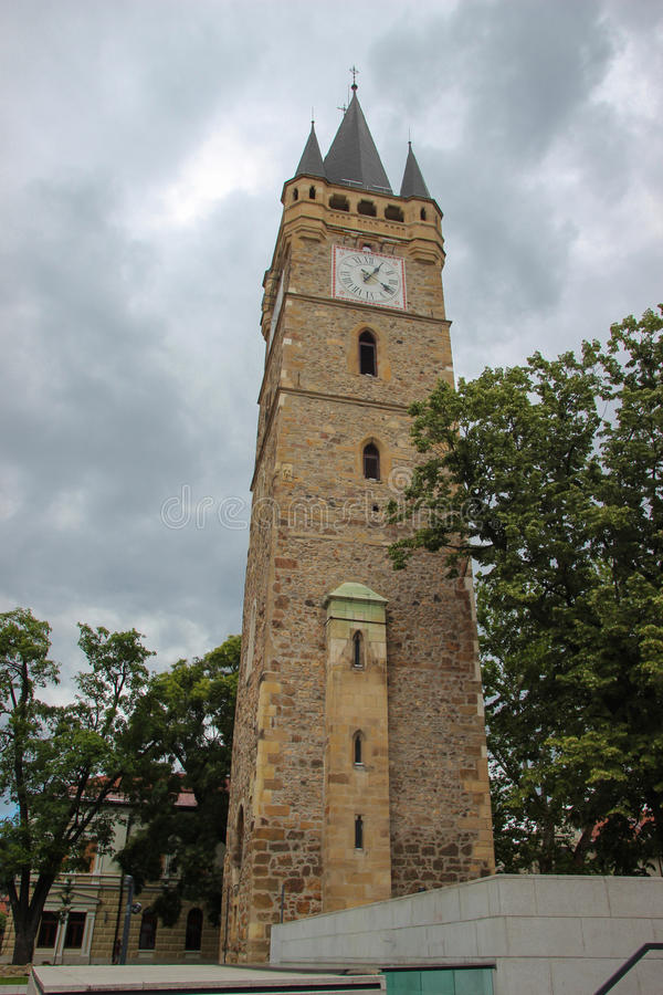 Stephen's Tower - Baia Mare, Romania. Stephen's Tower (Romanian: Turnul Ştefan; Hungarian: Szent István-torony) is a tower located on Citadel Square in stock photography