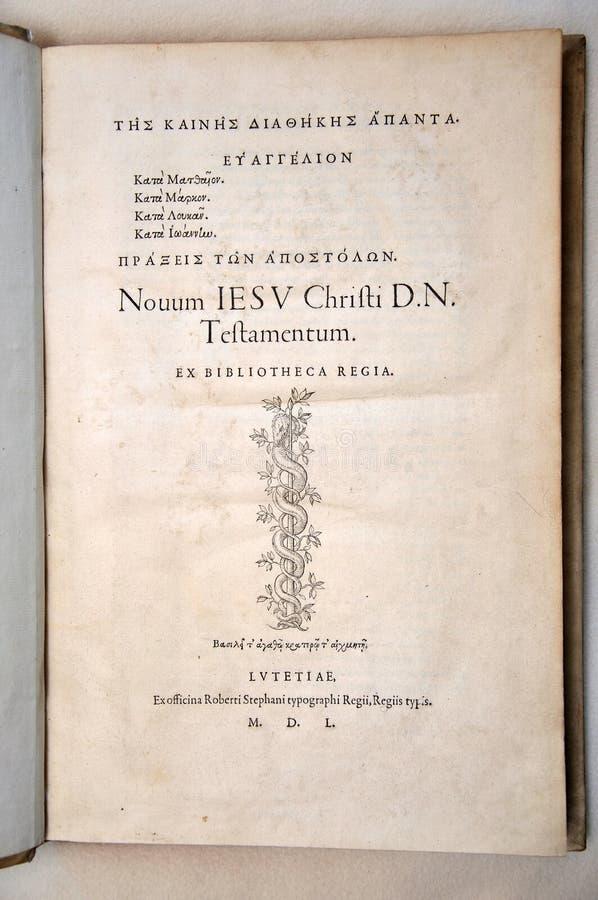 Stephens Bible stock de ilustración