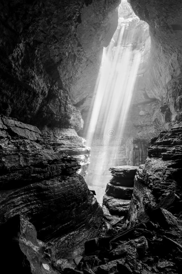 Stephens Gap underground cave stock photo