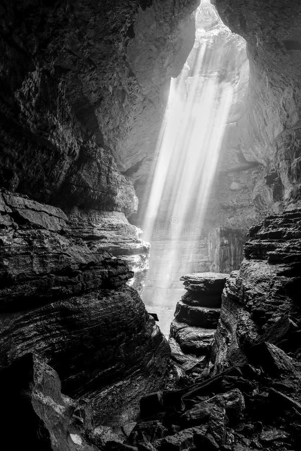 Stephens Gap underjordisk grotta arkivfoto