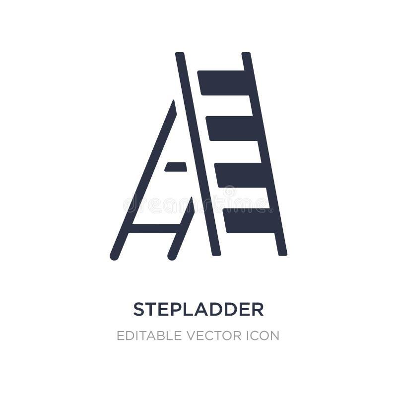 stepladder εικονίδιο στο άσπρο υπόβαθρο Απλή απεικόνιση στοιχείων από τη γενική έννοια ελεύθερη απεικόνιση δικαιώματος