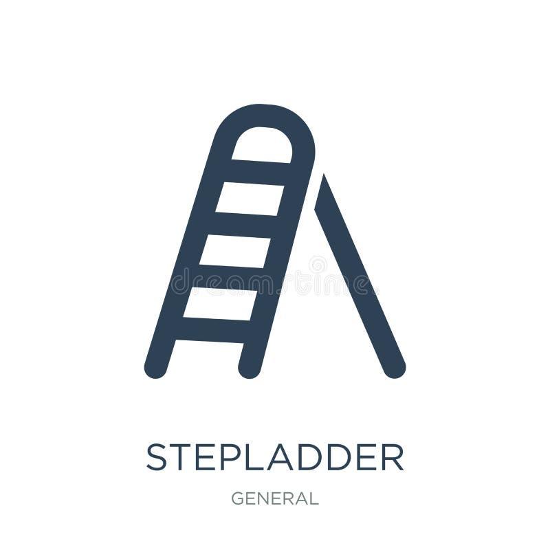 stepladder εικονίδιο στο καθιερώνον τη μόδα ύφος σχεδίου stepladder εικονίδιο που απομονώνεται στο άσπρο υπόβαθρο stepladder διαν απεικόνιση αποθεμάτων